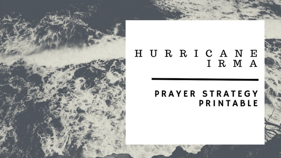 Hurricane Irma Prayer Strategy Printable