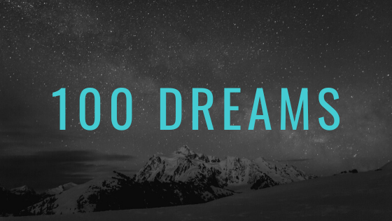 a list of 100 dreams or bucket list