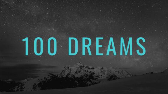 a list of 100 dreams or bucket list